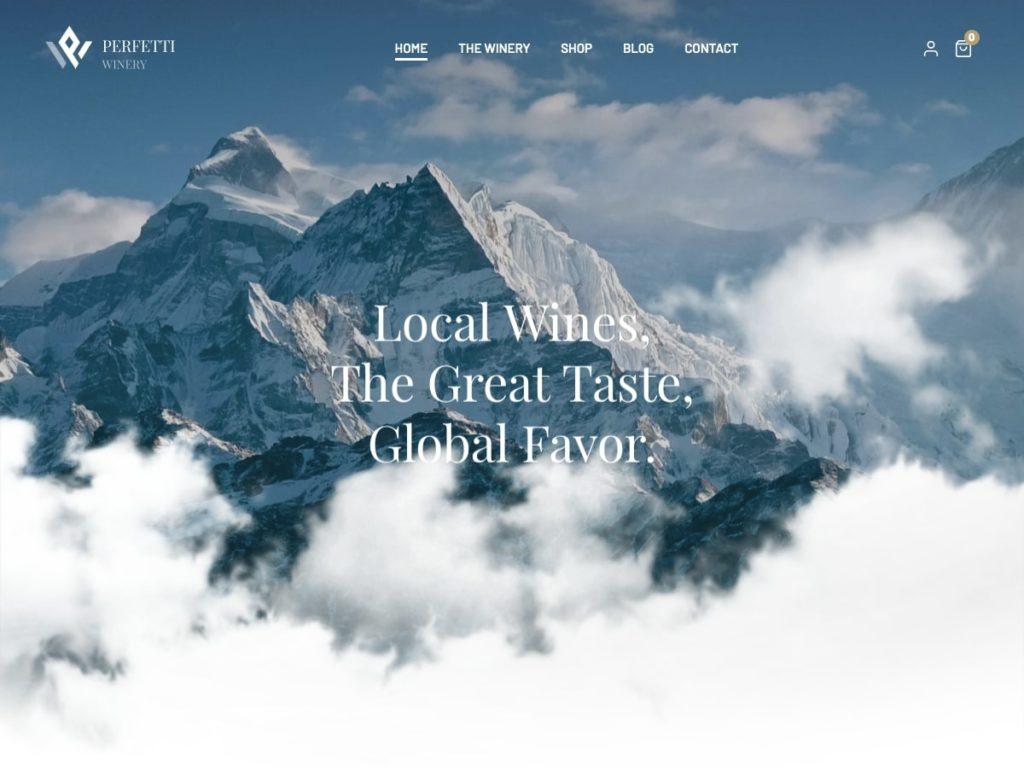 Bavarian WordPress Theme Winery Demo